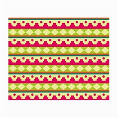 Tribal Pattern Background Small Glasses Cloth
