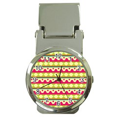 Tribal Pattern Background Money Clip Watches