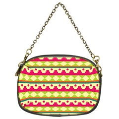 Tribal Pattern Background Chain Purses (one Side)