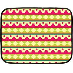 Tribal Pattern Background Fleece Blanket (Mini)