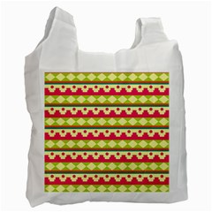 Tribal Pattern Background Recycle Bag (two Side)