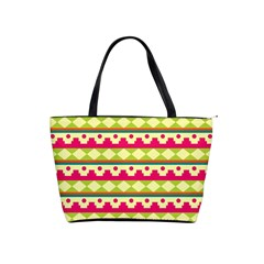 Tribal Pattern Background Shoulder Handbags