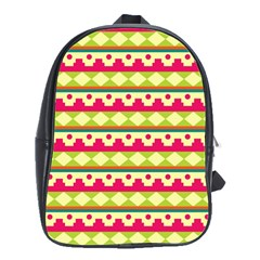 Tribal Pattern Background School Bags(large)
