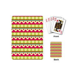 Tribal Pattern Background Playing Cards (mini)