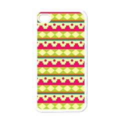 Tribal Pattern Background Apple Iphone 4 Case (white)