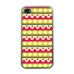 Tribal Pattern Background Apple Iphone 4 Case (clear)