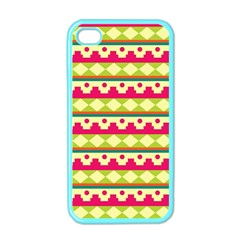 Tribal Pattern Background Apple Iphone 4 Case (color)