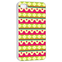 Tribal Pattern Background Apple Iphone 4/4s Seamless Case (white)