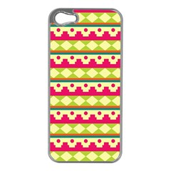 Tribal Pattern Background Apple Iphone 5 Case (silver)