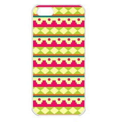 Tribal Pattern Background Apple Iphone 5 Seamless Case (white)