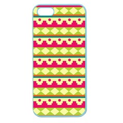 Tribal Pattern Background Apple Seamless Iphone 5 Case (color)