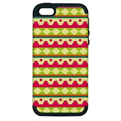 Tribal Pattern Background Apple Iphone 5 Hardshell Case (pc+silicone)