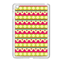 Tribal Pattern Background Apple Ipad Mini Case (white)