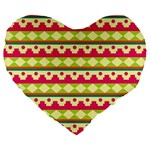 Tribal Pattern Background Large 19  Premium Heart Shape Cushions Front