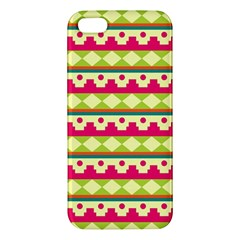 Tribal Pattern Background Apple Iphone 5 Premium Hardshell Case