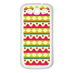 Tribal Pattern Background Samsung Galaxy S3 Back Case (white)