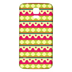 Tribal Pattern Background Samsung Galaxy S5 Back Case (white)