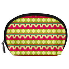Tribal Pattern Background Accessory Pouches (large)