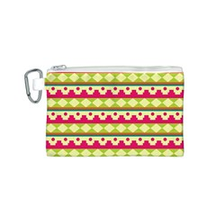 Tribal Pattern Background Canvas Cosmetic Bag (s)
