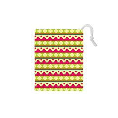 Tribal Pattern Background Drawstring Pouches (XS)