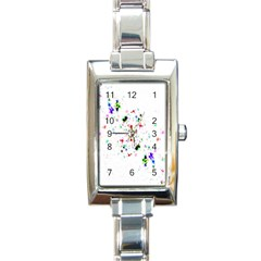 Star Structure Many Repetition Rectangle Italian Charm Watch