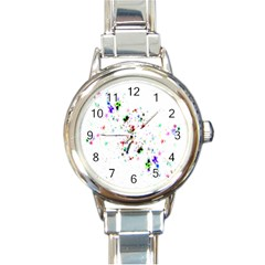 Star Structure Many Repetition Round Italian Charm Watch