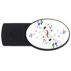 Star Structure Many Repetition Usb Flash Drive Oval (2 Gb)