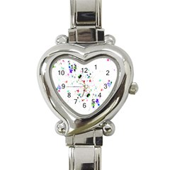 Star Structure Many Repetition Heart Italian Charm Watch
