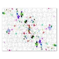 Star Structure Many Repetition Rectangular Jigsaw Puzzl