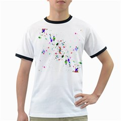 Star Structure Many Repetition Ringer T Shirts