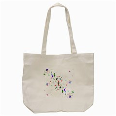Star Structure Many Repetition Tote Bag (cream)