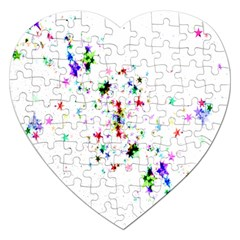 Star Structure Many Repetition Jigsaw Puzzle (heart)
