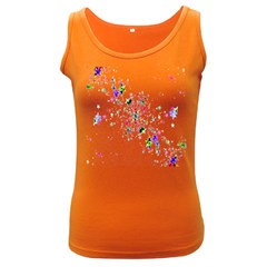 Star Structure Many Repetition Women s Dark Tank Top