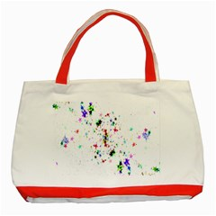 Star Structure Many Repetition Classic Tote Bag (red)