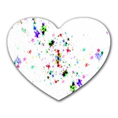 Star Structure Many Repetition Heart Mousepads