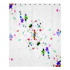 Star Structure Many Repetition Shower Curtain 60  X 72  (medium)