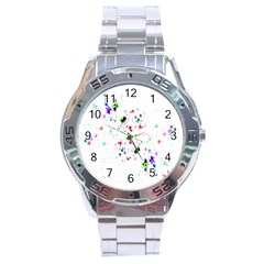 Star Structure Many Repetition Stainless Steel Analogue Watch