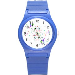Star Structure Many Repetition Round Plastic Sport Watch (s)