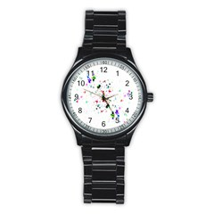 Star Structure Many Repetition Stainless Steel Round Watch