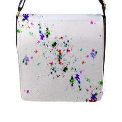 Star Structure Many Repetition Flap Messenger Bag (l)