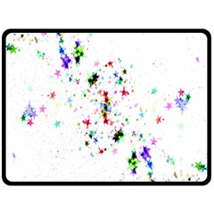 Star Structure Many Repetition Double Sided Fleece Blanket (large)