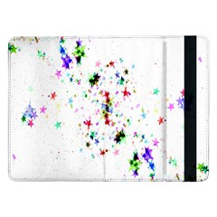 Star Structure Many Repetition Samsung Galaxy Tab Pro 12 2  Flip Case