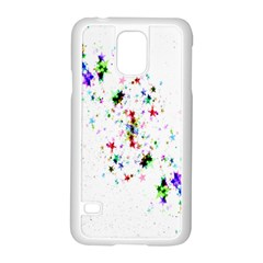 Star Structure Many Repetition Samsung Galaxy S5 Case (white)