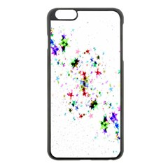 Star Structure Many Repetition Apple iPhone 6 Plus/6S Plus Black Enamel Case