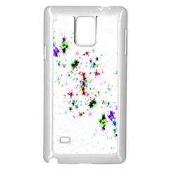 Star Structure Many Repetition Samsung Galaxy Note 4 Case (white)