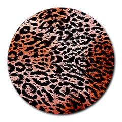 Tiger Motif Animal Round Mousepads