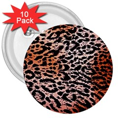 Tiger Motif Animal 3  Buttons (10 Pack)