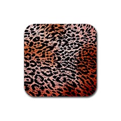 Tiger Motif Animal Rubber Coaster (square)
