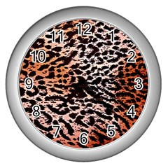 Tiger Motif Animal Wall Clocks (silver)