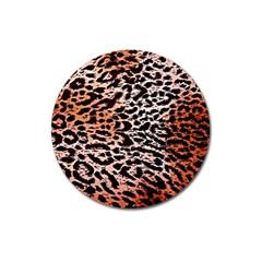 Tiger Motif Animal Magnet 3  (Round)